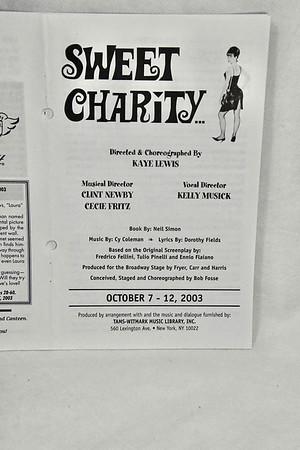 10-7-2003 Sweet Charity @ Joplin Little Theatre