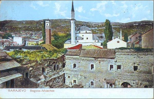 Ruševine Gazi Husrev-begovog hana - Tasli (kamenog) hana koji je sagradjen 1543.g.
