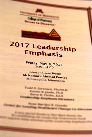 2017 05 05: UMN College of Pharmacy, Minnesota, Leadership Recognition
