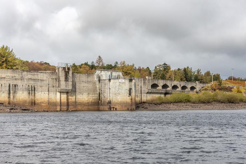 Loch Doon and the Hydro Dam Ayrshire Scotland