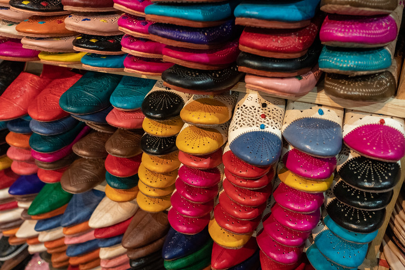 Leather shoes in Fes, Morocco