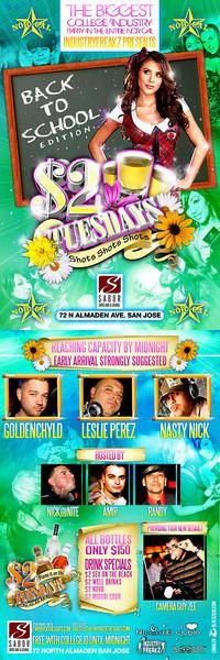 $2 Tuesday @ Sabor Tapas Bar & Lounge 9.29.09
