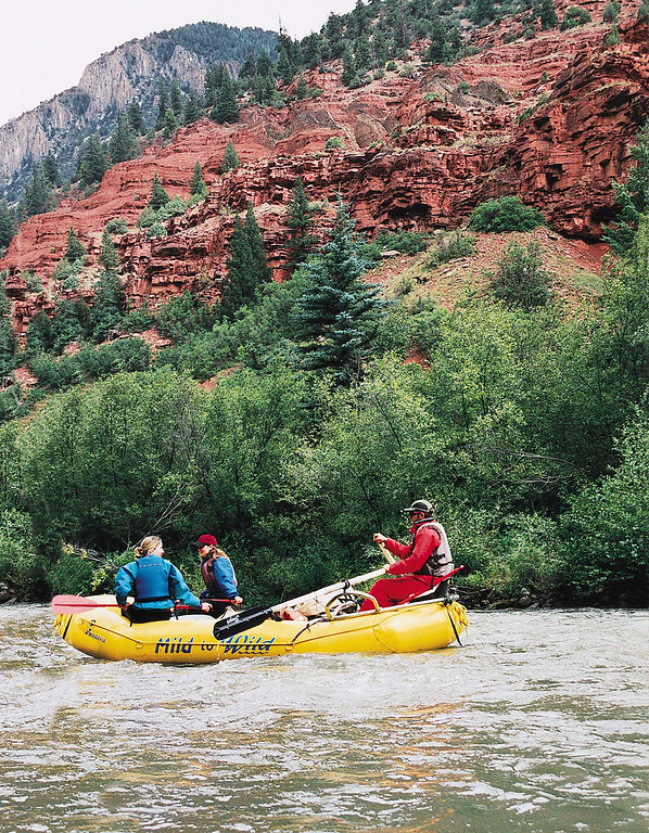 . The San Miguel is a best-kept secret of stunning sandstone and red rock walls alternating with forest and views of Mount Wilson.  (Provided by Colorado River Outfitters Association)