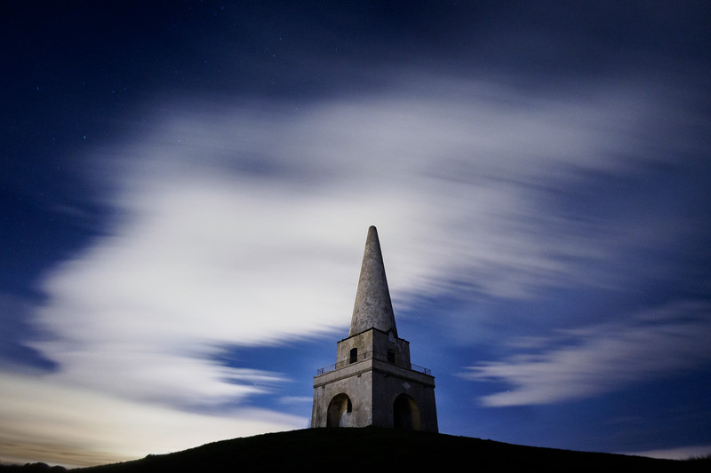 Killiney Hill Obelisk by moonlight