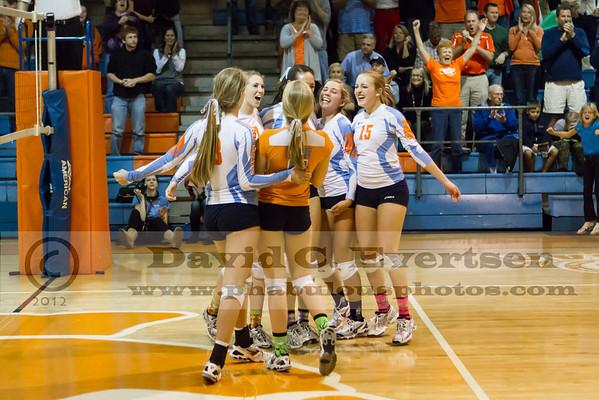 Olympia Titans @ Boone Braves Girls Varsity Volleyball Playoffs - 2012