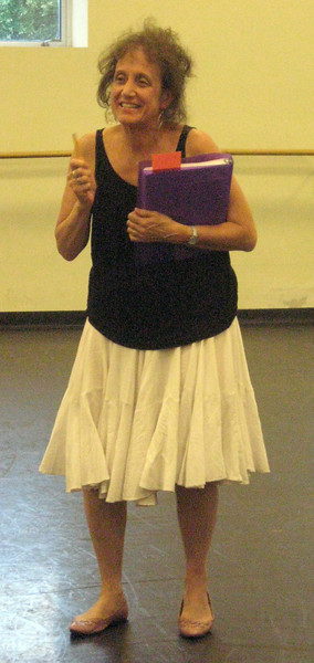 Liz Lerman welcomes everyone to Liz Lerman/Dance Exchange in Takoma Park, MD.