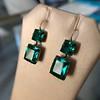 Georgian Double Drop Emerald Paste Earrings 4