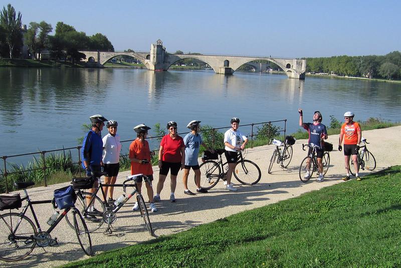Along the Rhone River, the famous half bridge - Pont St-Benezet