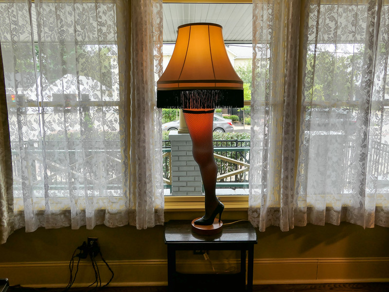 Leg lamp at the A Christmas Story house