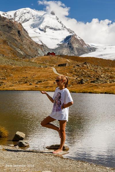 Lilli enjoying Stelisee above Blauherd