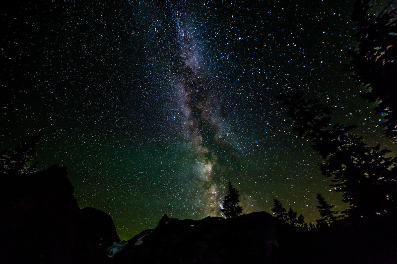Milky Way over Jade Lake, Alpine Lakes Wilderness