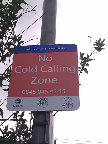 No Cold Calling Zone