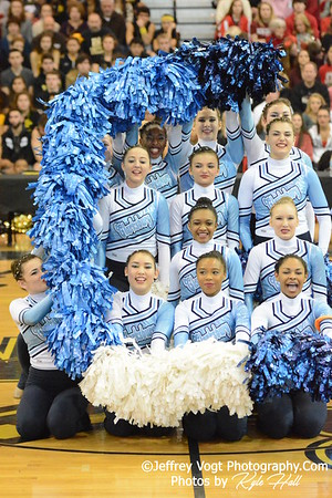 2-14-2015 Clarksburg HS Varsity Poms at Richard Montgomery HS MCPS Championship, Photos by Jeffrey Vogt Photography with Kyle Hall