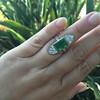 4.05ct Emerald and Old European Cut Diamond Ring 16