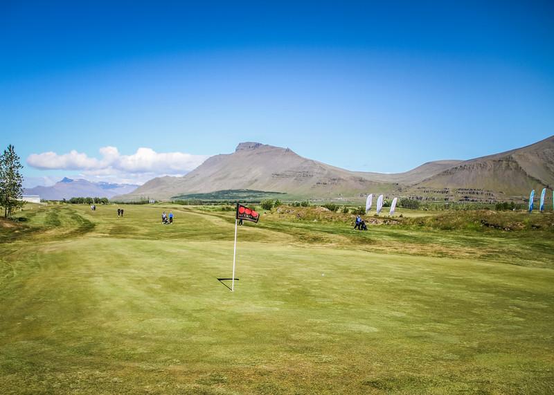 Frá 9. flöt á Garðavelli.  Mynd/seth@golf.is