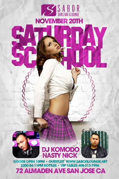 Saturday School @ Sabor Tapas Bar & Lounge 11.20.10