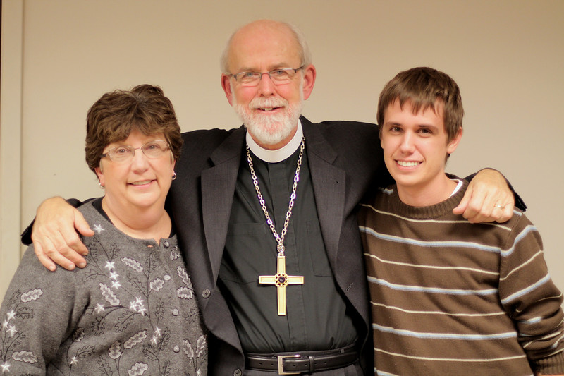 Nan and Ty Dahlke with Bishop Hanson November 21, 2010.