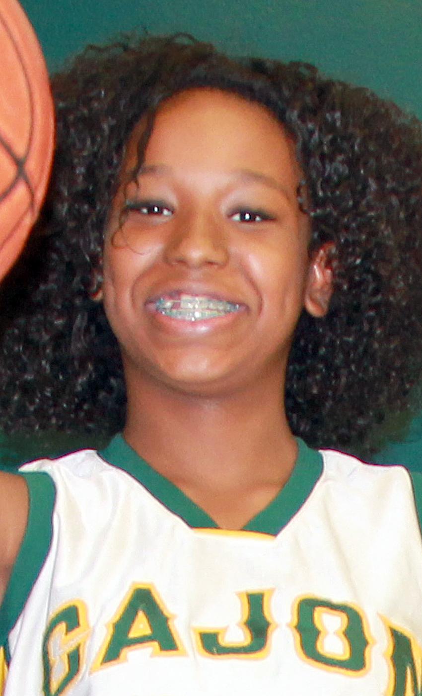 Description of . Kayla Washington of Cajon High School has been named to The Sun's All-Valley Girl's Basketball First Team. Courtesy photo