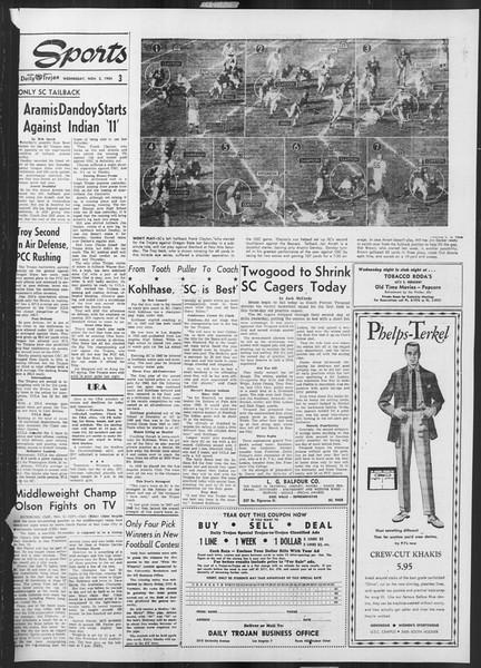 Daily Trojan, Vol. 46, No. 34, November 03, 1954