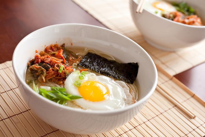 Homemade Kim Chi Noodles