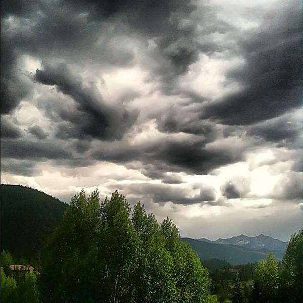 Rocky mountain view from our deck - #Keystone, #Colorado #TBEX #cloudporn #skyporn