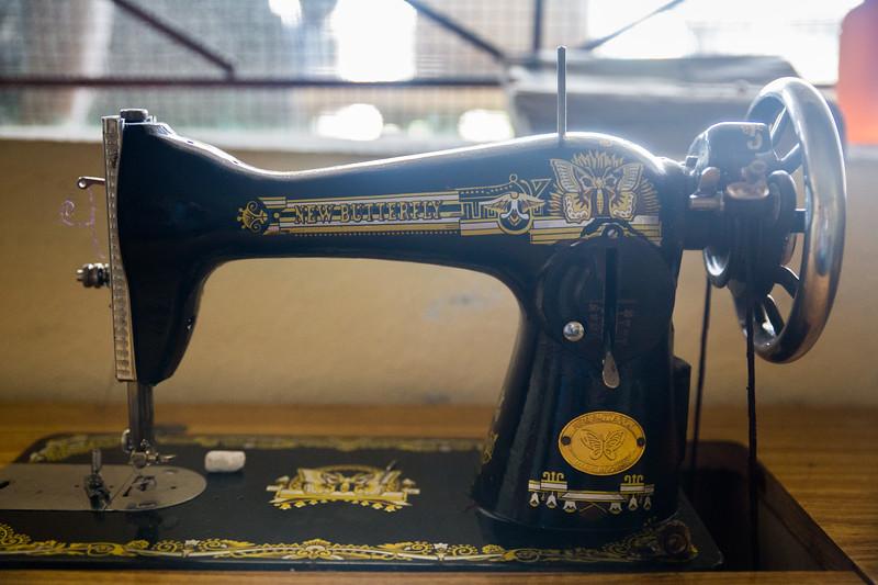 Monrovia, Liberia October 6, 2017 -  A sewing machine used at REVSLA.