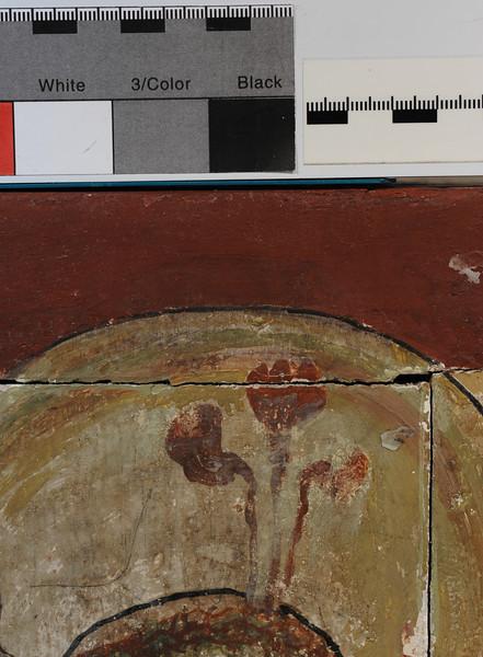 Vorzustand: Anna Altar, Predella, Rückseite, retuschierte Oberfläche AAF_0998_27-10-2011