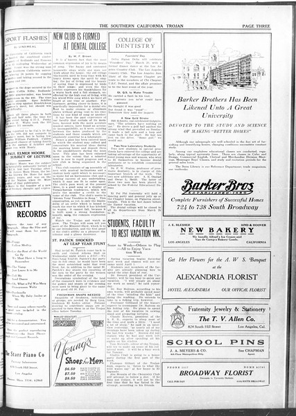 The Southern California Trojan, Vol. 11, No. 73, March 19, 1920