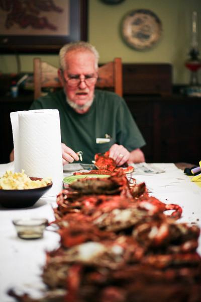 Howard Family Crab feast