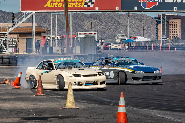 The Final Round of Vegas Drift from Import Face Off at Wild Horse Pass Motorsports Park