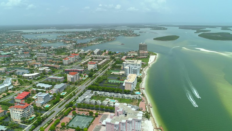 Travel footage Marco Island Florida ten thousand islands USA 4k 24p