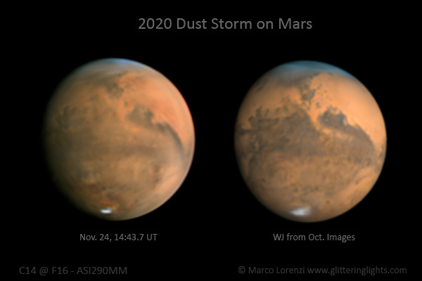 Dust Storm on Mars, Nov 24, 2020