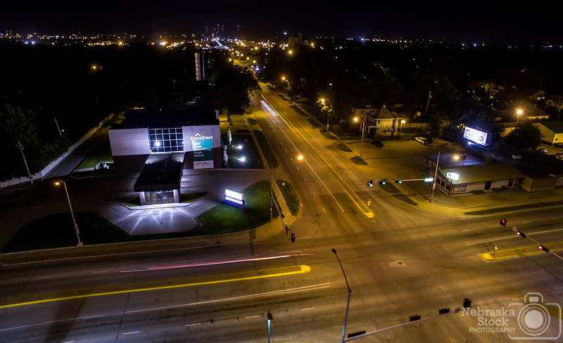 9-10-2018<br /> <br /> 252/365<br /> <br /> Traffic was scarce in this Norfolk nightscape on a Monday night. <br /> <br /> Photo taken with a DJI Inspire 1 v2<br /> <br /> ISO 100<br /> <br /> 2.5 seconds at F2.8<br /> <br /> Picture No. 152823