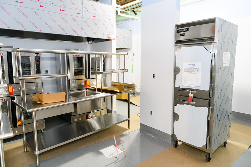 New hood and range appliances installed in the cafeteria at Gubser Elementary on Friday, August 16, 2019, in Keizer, Ore.