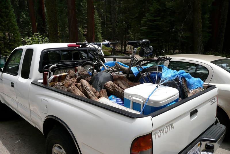 A Bike Hiding among the Logs. Mariposa Grove, Yosemite NP