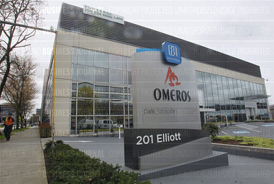 Pictured is Omeros headquarter at 201 Elliott Ave. W in Seattle, Washington