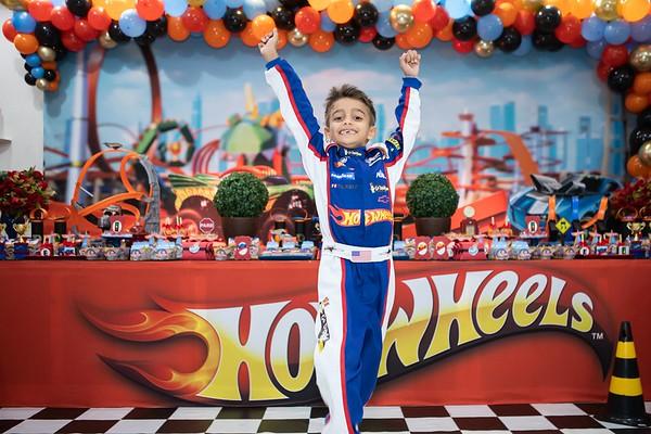 Aniversário 7 anos Davi - Hot Wheels