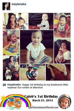 Caleb's 1st Birthday - Instagram Photobooth