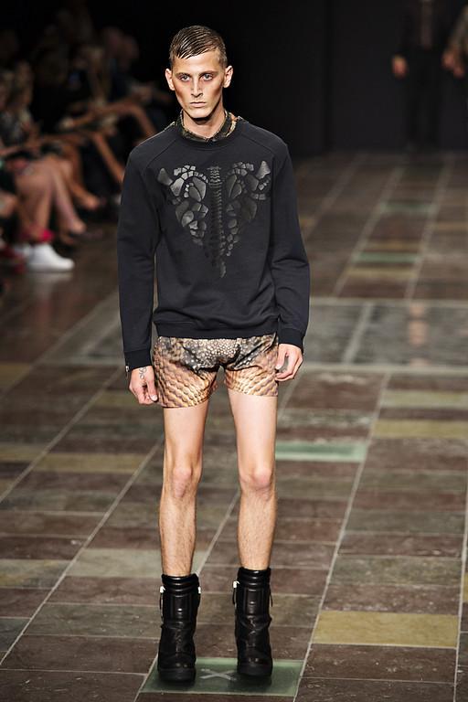 . A model wears a creation by Danish designer Jean//Phillip during Copenhagen Fashion Week Spring/Summer 2014 in Copenhagen, Wednesday Aug. 7, 2013. (AP Photo/Carsten Bundgaard, Polfoto)