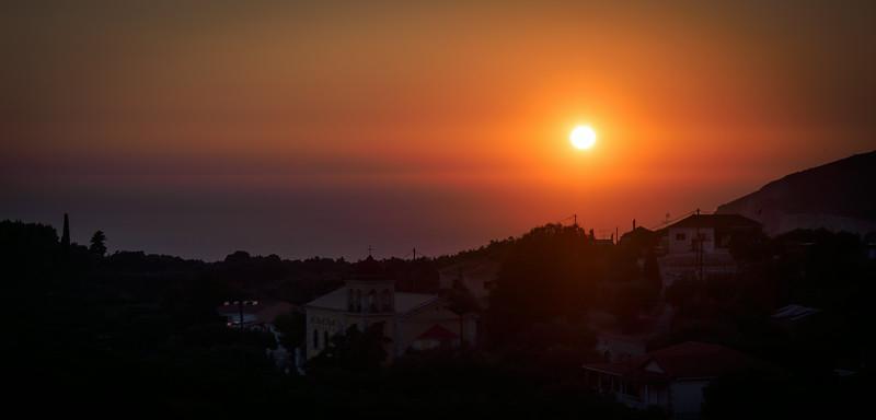 Sunset from Keri village