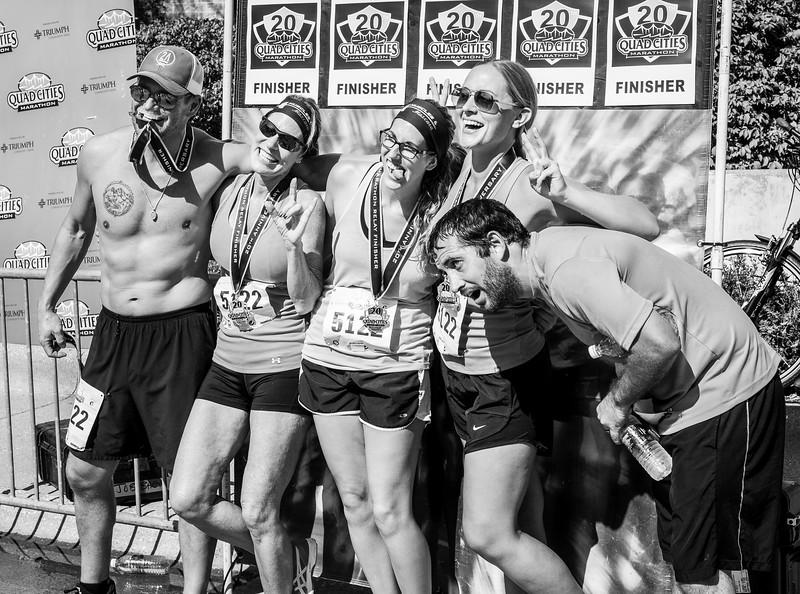 Nancy and Team QC Marathon 2017