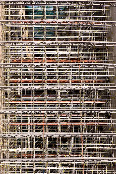 Scaffoldings on a building, London, United Kingdom