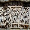 Carvings on Jagdish Temple, Udaipur, India