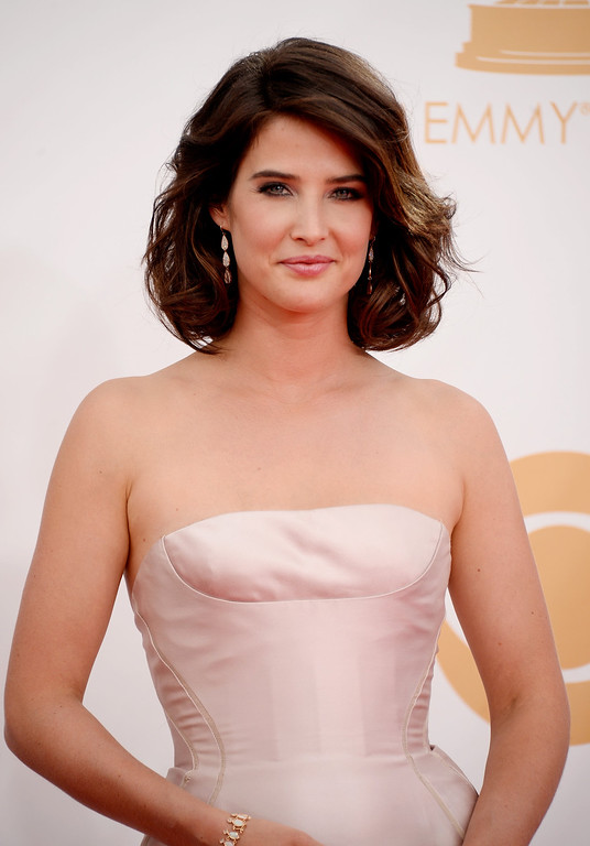 . Actress Cobie Smulders arrives at the 65th Annual Primetime Emmy Awards held at Nokia Theatre L.A. Live on September 22, 2013 in Los Angeles, California.  (Photo by Frazer Harrison/Getty Images)