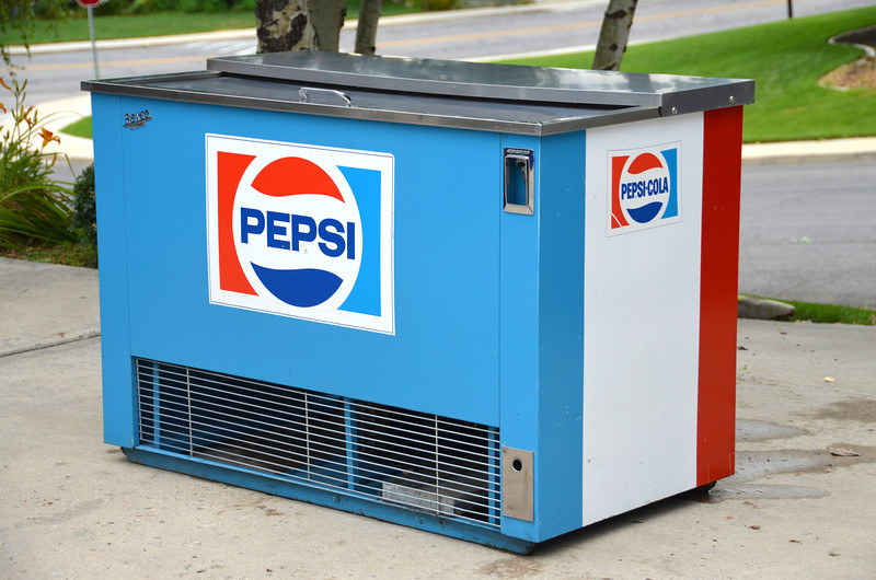 2012-7-14 ––– I'm selling my prized Pepsi machine. It is around 55 years old and still runs great, but I need the room in my garage. I pulled it out and washed it up so I could take some photos to post online. I wish I had the room to keep it. It is likely worth substantially more than I'll sell it for.