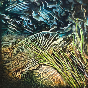 """""""Water's Mystery"""" (acrylic on canvas) by Stan Evenson"""