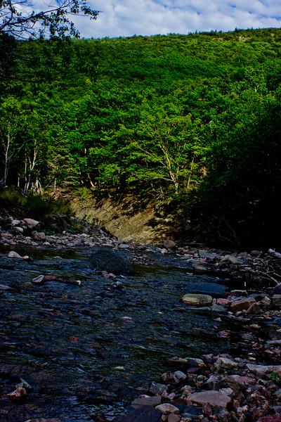 River Through the Mountain in Cape Breton Nova Scotia