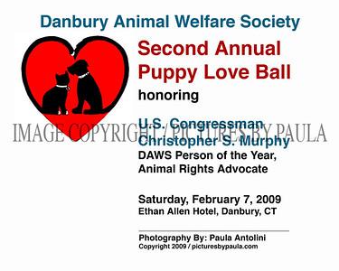 DAWS / Danbury Animal Welfare Society ~ Second Annual Puppy Love Ball ~ Danbury, CT ~ February 7, 2009