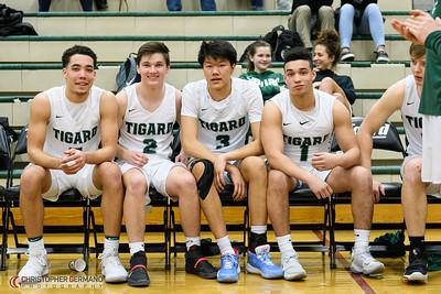 Tigard High School Boys Varsity Basketball vs Oregon City