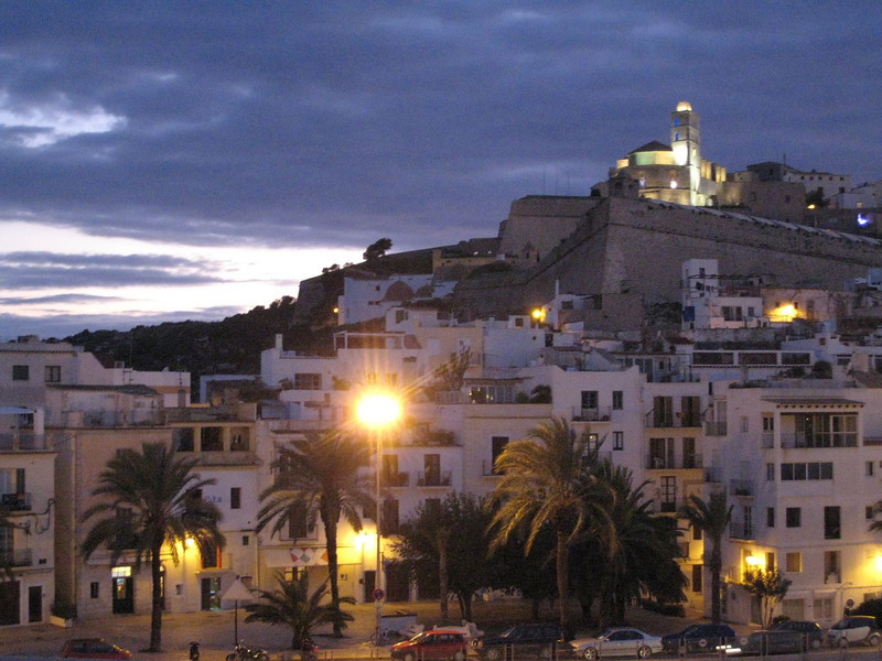 Ibiza Town, Spain - Evening time